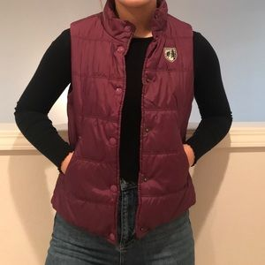 American Eagle Outfitters Purple Vest Size: Small